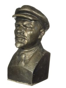 Free Old Bronze Bust Of Lenin Royalty Free Stock Image - 22508496