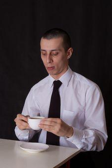 Free Thoughtful Businessman Drinking Coffee Stock Photo - 22508600