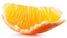 Free Tangerine Slice. Royalty Free Stock Image - 22509126