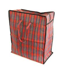 Free Red Tartan Bag Royalty Free Stock Photos - 22509928
