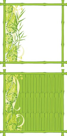 Free Two Decorative Frames From A Green Bamboo Stock Images - 22511004