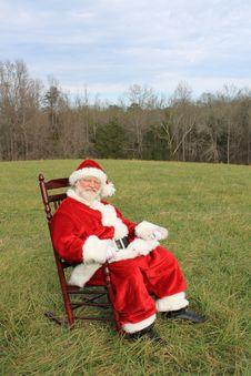 Free Rocking Chair Santa Stock Images - 22512774