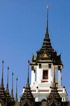 Free Metalic Castle Temple , Thailand. Stock Image - 22514181