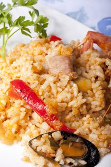 Free Paella Rice Stock Photography - 22514222