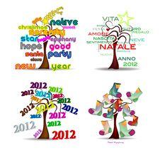 Free Set Holidays Trees Stock Photography - 22517452