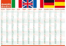 Free Italian Poster Calendar 2012 European Mood Royalty Free Stock Photos - 22518408