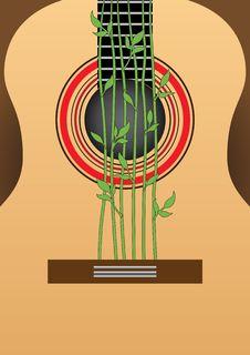 Free Guitar. Decorative Ornament. Stock Images - 22519584