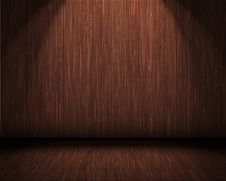 Free Room With A Wooden Wall And Floor Stock Image - 22522111