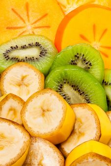 Free Sliced Tropical Fruits Royalty Free Stock Photos - 22523668