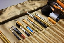 Free Make Up Brushes Royalty Free Stock Photography - 22523927