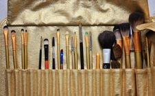 Free Make Up Brushes Royalty Free Stock Photo - 22523955