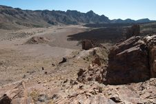 Free Lava Fields In The Teide Park, Teneriffe, Spain Royalty Free Stock Photos - 22524048
