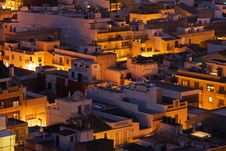 Free Small Spanish City At Sunset Royalty Free Stock Photos - 22524218