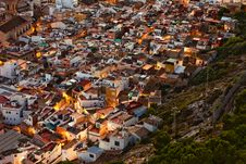Free Small Spanish City At Sunset Royalty Free Stock Image - 22524226