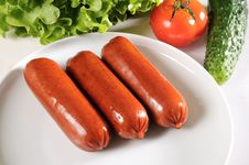 Free Grilled Sausages Stock Images - 22524494