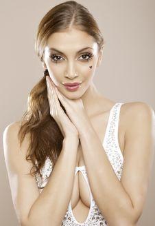Beautyful Lovley Brunette Stock Photos