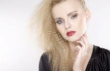 Free Young Pretty Woman With Beautiful Blond Hairs Royalty Free Stock Image - 22527676