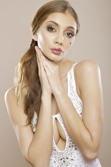 Beautyful Lovley Brunette Royalty Free Stock Photography