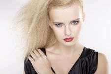 Free Young Pretty Woman With Beautiful Blond Hairs Royalty Free Stock Image - 22527836