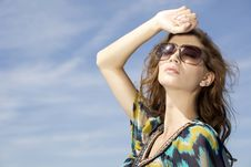 Free Beautiful Girl In Sunglasses Royalty Free Stock Image - 22527906