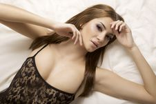 Attractive Brunette Stock Photography