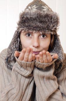 Free Winter Woman Stock Photo - 22529240