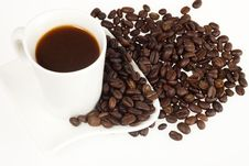 Free Coffee Cup And Grain Stock Images - 22529254