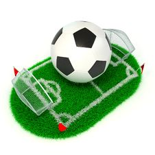 Free Concept Soccer Royalty Free Stock Images - 22529829