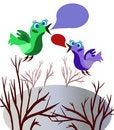 Free Speaking Birds Royalty Free Stock Photos - 22533648