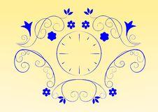 Floral Clock Royalty Free Stock Photos
