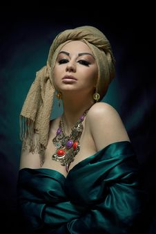 Portrait Of A Beautiful Arabic Girl Royalty Free Stock Photography