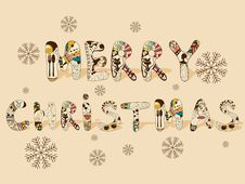Free Merry Christmas Stock Photography - 22533152