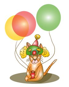 Free Cat With Balloons Stock Photography - 22533562