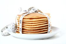 Free Calorie Pancakes Royalty Free Stock Photos - 22536618