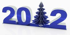 Free New 2012 Year With Christmas Tree Stock Image - 22537191