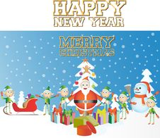 Free Merry Christmas Happy New Year Stock Images - 22539214
