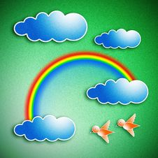 The Rainbow On The Clouds Royalty Free Stock Images
