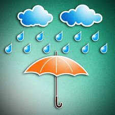 Free Rainy Season And Umbrella Stock Photography - 22539962