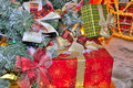 Free Boxes With Christmas Gifts Under Fir Tree Stock Photos - 22545093