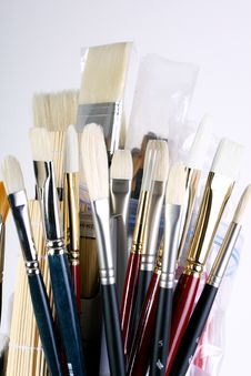 Free Artist Paint Brushes Royalty Free Stock Photo - 22540015