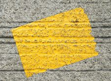 Free Yellow Sticker On Concrete Background Stock Photography - 22540782