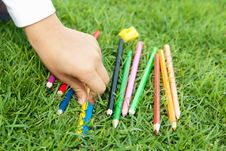 Free Colored Pencils Stock Photography - 22540902