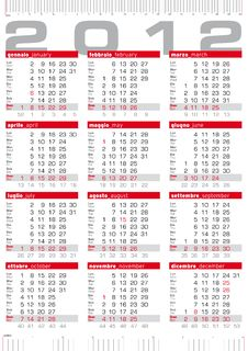Free 2012 Calendar With Rulers Stock Image - 22542781