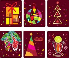 Free Abstract Background,merry Christmas Icons. Stock Photo - 22543100