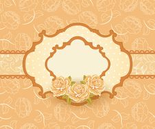 Free Floral Background With Roses Stock Images - 22544264