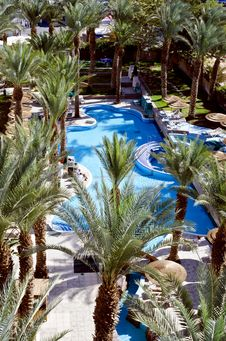 Free Swimming Pool Near Resort Hotel, Eilat Stock Photos - 22545503