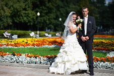 Free Happy Groom And Bride Royalty Free Stock Photography - 22545657