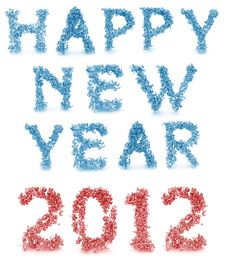 Free Happy New Year Made From 3d Letters Stock Photo - 22546930