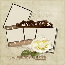 Free Love Card With Filmstrip Stock Images - 22547154