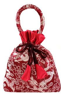Free Red Silky Money Bag, Lucky Pouch Stock Image - 22550641